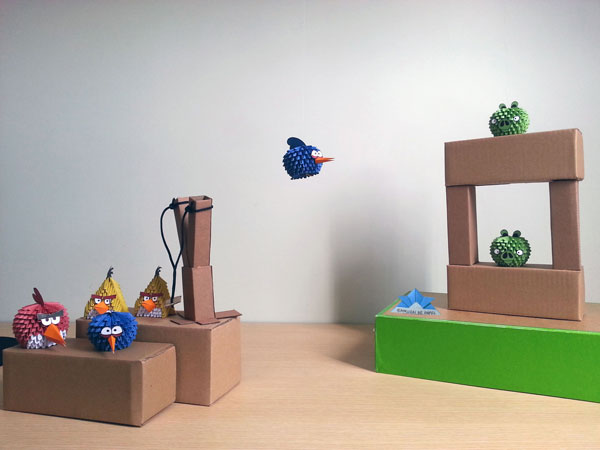Origami 3D Angry Bird