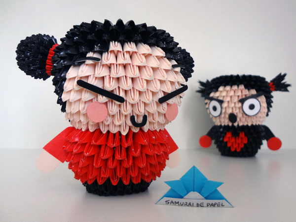 Origami 3D Pucca